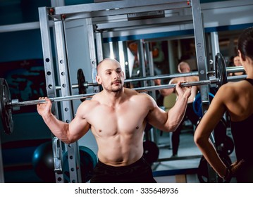 The strong man in the gym. Sport