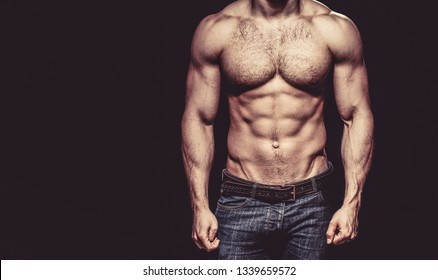 Strong mans, bodybuilder, muscular men. Copy space. Beautiful male torso. Sexy man, naked body, nude male. Sexy body, nude man, naked male, muscled.