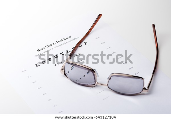 Strong Plus Glasses Thick Dark Lenses Stock Photo (Edit Now