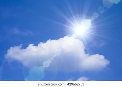 Strong sunlight