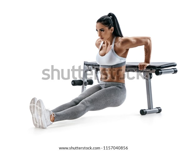 Terrific Strong Woman Working Out Arms Muscles Stock Image Download Now Pdpeps Interior Chair Design Pdpepsorg