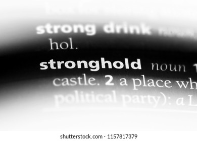 stronghold word in a dictionary. stronghold concept.