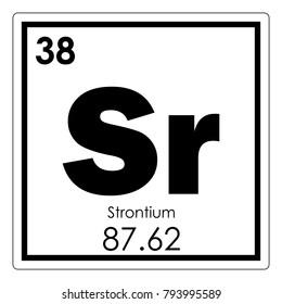 Strontium images stock photos vectors shutterstock strontium chemical element periodic table science symbol urtaz Gallery