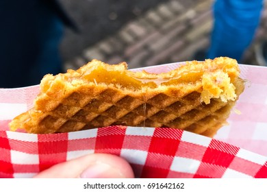 Stroop wafel, also known as syrup waffle, is one of the famous Dutch snack from The Netherlands