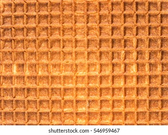 Stroopwafels or Dutch waffle texture close up