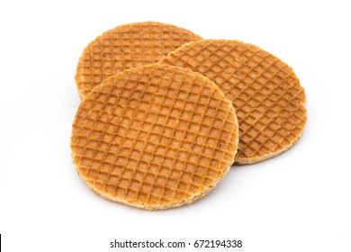 Stroopwafels or Dutch Waffles with caramel.