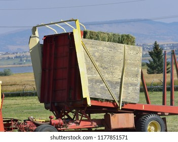 Strorage unit of a hay picker.