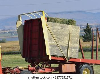 Strorage unit of a hay picker.