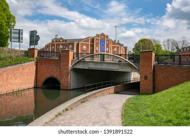 Stroud Brewery Bridge over a restored section of the  Stroudwater Canal, Wallbridge, Stroud, United Kingdom