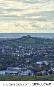 Stroud, England-October 11, 2020: A view of Randwick hill from Rodborough Common