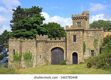 Stroud, Gloucestershire, UK - July 28, 2019: Rodborough Fort Situated On The Edge Of Rodborough Common Over Looking The Stroud Valleys.