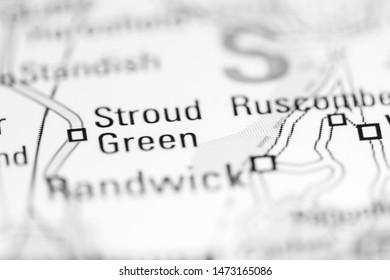 Stroud Green. United Kingdom on a geography map