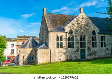 STROUD, UK - SEPTEMBER 23, 2019: Grade 2 listed Parish Church of St Laurence in Stroud Gloucestershire. The Parish Church is a Victorian rebuild of an older medieval church