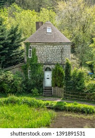 Stroud, United Kingdom - May 2019: Chalford Roundhouse a listed building on the Severn Thames Canal, Stroud, The Cotswolds, United Kingdom