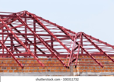 Steel Roof Truss Images Stock Photos Vectors Shutterstock