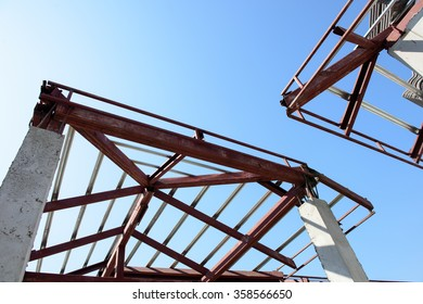 Roof trusses images stock photos vectors shutterstock for Roof truss sign