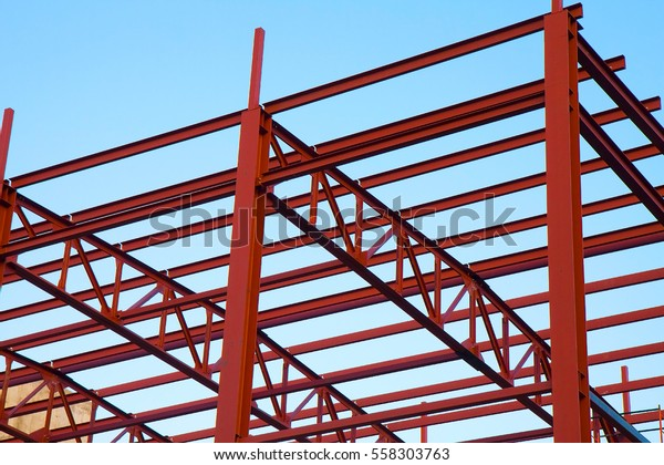 Structural Steel Beam On Roof Building Stock Photo Edit Now