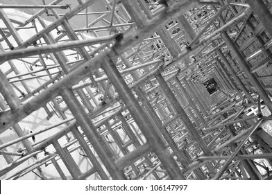 Structural steel framework, abstract