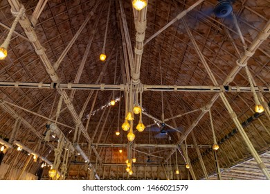 Structure of bamboo huts. Bamboo hut. Bamboo huts for living.