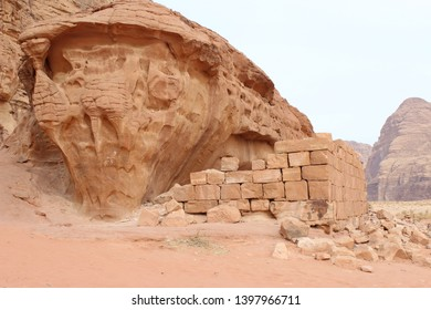 A structure believed to be T E Lawrence's house at Wadi Rum