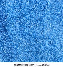 Structure of a blue cotton towel