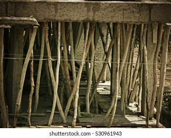 Structure of a building under construction