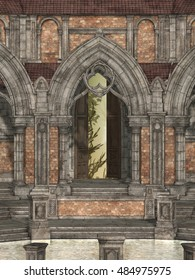 structure of Castle 3D rendering