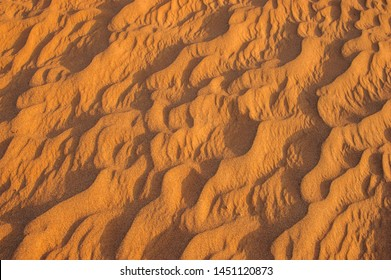 The structure of dunes in the desert, Dubai, United Arab Emirates.Close up.Areal view.