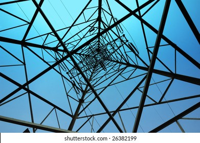 Structure geometric  framework  of high voltage electricity pole