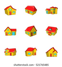 Structure icons set. Cartoon illustration of 9 structure  icons for web