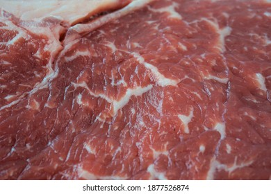the structure of the marbled fresher beef steak