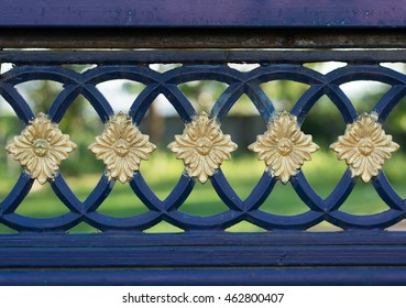 structure and ornaments of wrought iron and gate