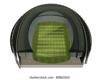 Structure of the Stadium with Soccer Field