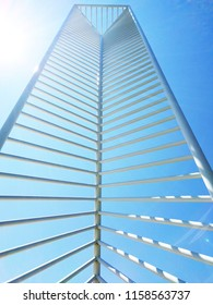 A structure in the tech center in Denver, Colorado on a summer day.