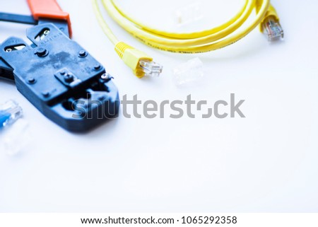 Sensational Structured Cabling Systems Concept Set Connectors Stock Photo Edit Wiring 101 Capemaxxcnl