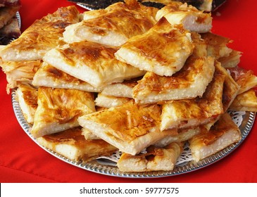 Strudel stuffed with curd cheese (Austro-Hungarian specialty)