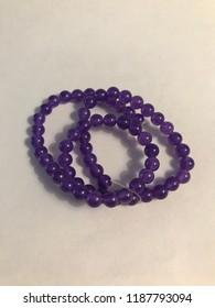 Strung Amethyst Beads