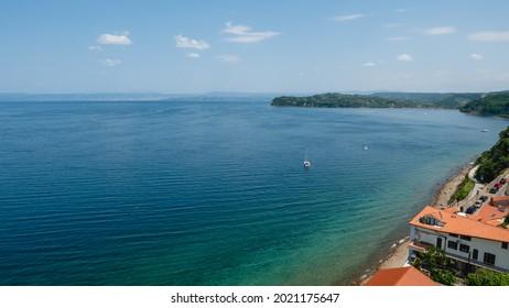Strunjan cliff on Slovenian Adriatic Coast, Adriatic Sea - Shutterstock ID 2021175647