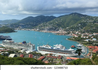 St.Thomas island port,  U.S. Virgin Islands