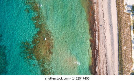 """Stuart, FL / USA - 7-16-19: Aerial view of Bathtub Reef Beach"""
