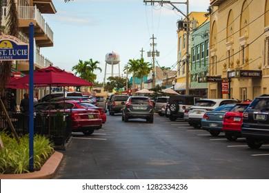 Stuart, Florida, USA - January 1, 2019: City of Stuart Water Tower