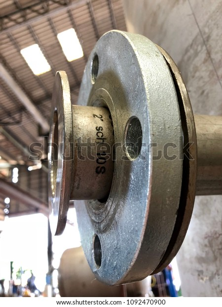 Stub End Flange Pressure Vessel Fabrication Stock Photo