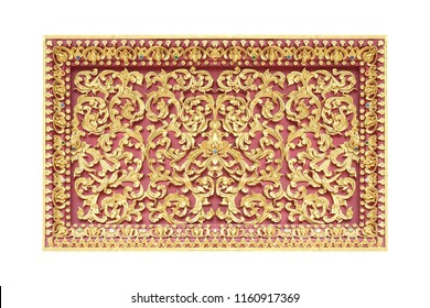 stucco pattern flower decorative isolated on white background