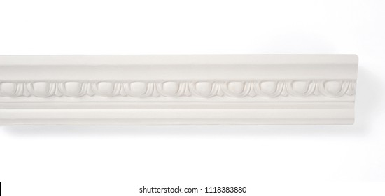 stucco strip isolated over white background