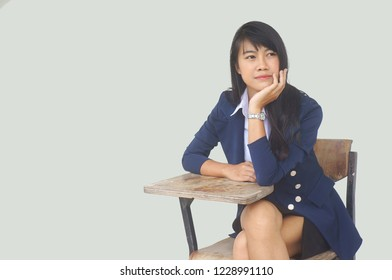 studen / working woman learns business for manager , CEO