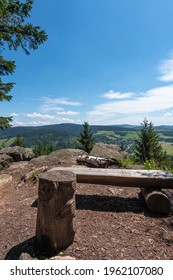 Studenecke skaly, rocks in Orlicke mountains with camping place, resting place and amazing view to landscape Eastern Bohemia, Czech Republic - Shutterstock ID 1962107080