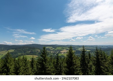 Studenecke skaly, rocks in Orlicke mountains with camping place, resting place and amazing view to landscape Eastern Bohemia, Czech Republic - Shutterstock ID 1962107083