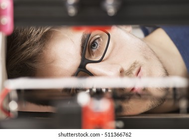 student and 3D printer