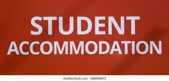 Student accommodation sign