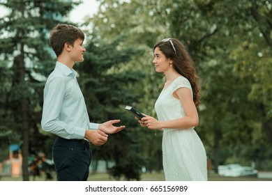 The student asks for the book from his girlfriend